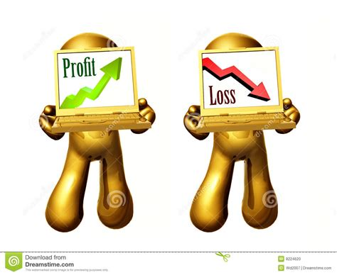 profit loss profit and loss icon stock photo image of stand 8224620