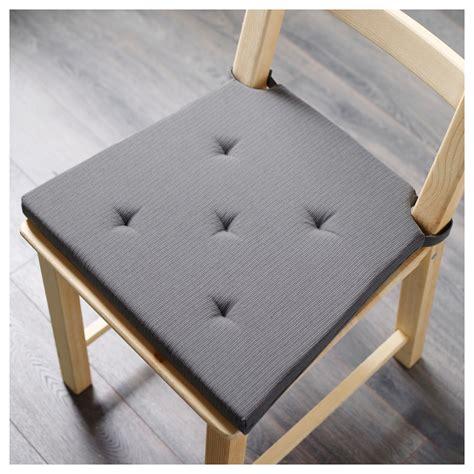 justina chair pad grey 35 42x40x4 0 cm ikea