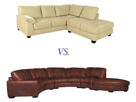 microfiber vs leather which is right for your sofa contempo sofa - Leather Vs Microfiber Sofa