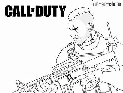 Duty Call Coloring Pages Cod Warfare Modern