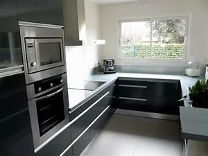 cuisine grise et noire pas cher sur cuisinelareduccom With cuisine noire et grise
