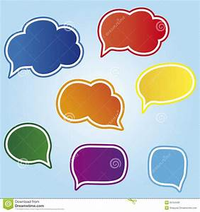 Colored Speech Bubbles Stock Photo - Image: 25154430