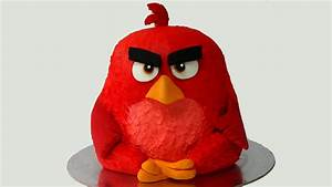 how to make angry birds birthday cake - YouTube  Angry