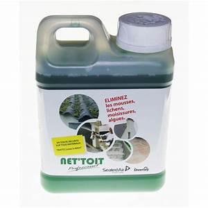 Anti Mousse écologique : anti mousse toiture net 39 toit professionnel 1 litre ~ Edinachiropracticcenter.com Idées de Décoration