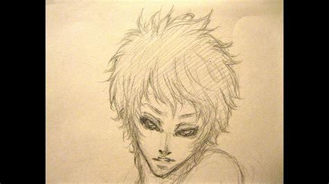 draw anime manga boy male character hair hibari
