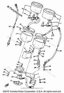 Yamaha Motorcycle 1979 Oem Parts Diagram For Speedometer