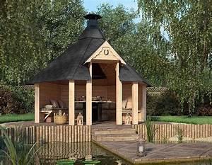 Grill Pavillon Holz : grill pavillon till aus massivem holz f r bis zu 10 ~ Whattoseeinmadrid.com Haus und Dekorationen
