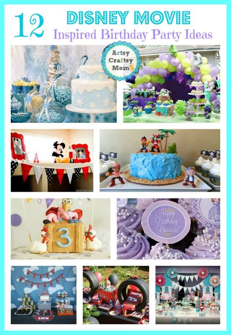 disney  themed birthday party ideas artsy