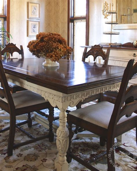 Painted Furniture Dining Room Table Update  New House
