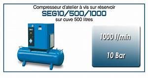 Compresseur A Vis : compresseur vis sur r servoir 500 litres type seg10 ~ Melissatoandfro.com Idées de Décoration