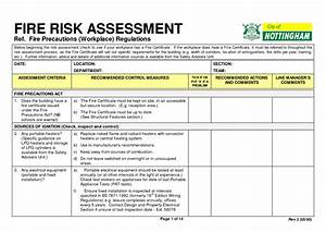 4  Fire Risk Assessment Forms  U2013 Word Templates