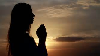 Women Praying Hands Silhouette