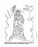 Liberty Statue Coloring Symbols Printable Drawing Usa Patriotic Printables Face Places Flag History Symbol Activities Does Clipart Printing Facts sketch template