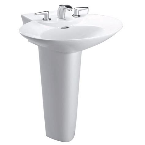 toto pedestal sink home depot toto pacifica 26 in pedestal combo bathroom sink with
