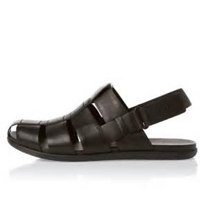 Men's Black Leather Sandals