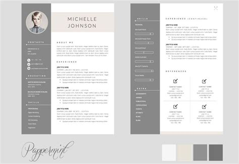 2 Page Resume Template by 2 Page Cv Template Free Cvtemplate Template 2 Cv