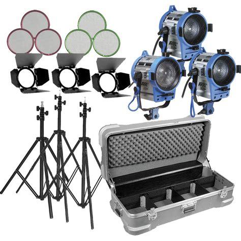 arri light kit arri compact fresnel three light kit lk 0005654 b h photo