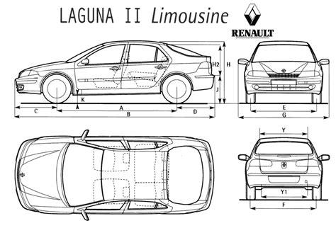 1999 renault laguna ii sedan blueprints free outlines