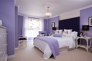Lavender And White Wall Paint Colour Combination