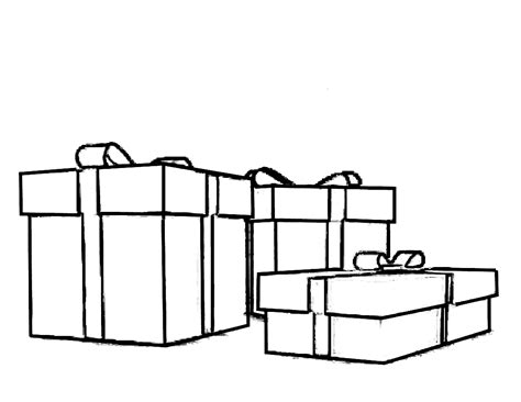 Christmas Gift Box Coloring Pages