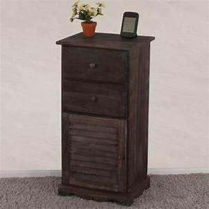 Schrank Vintage Look : kommode schrank 81x40x32cm shabby look vintage braun ~ Bigdaddyawards.com Haus und Dekorationen