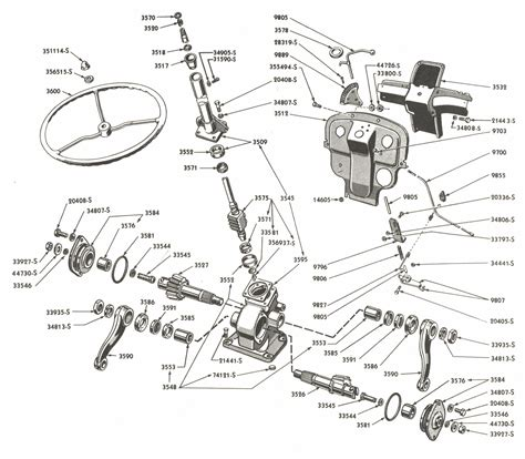 steering gear parts  ford  tractors asn