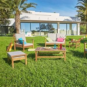 Table De Jardin En Bois Pas Cher : salon de jardin pas cher bois mc immo ~ Teatrodelosmanantiales.com Idées de Décoration