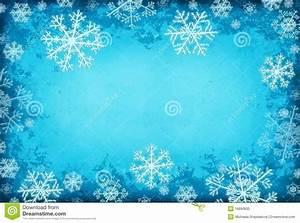 Fondo Azul Con Los Copos De Nieve Foto de archivo Imagen: 16890830
