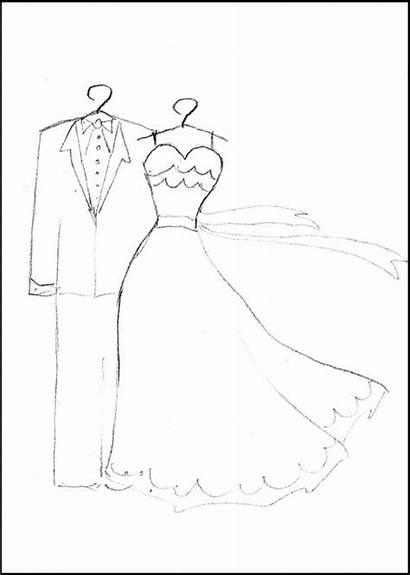 Coloring Printable Hochzeit Ausmalbilder Dresses Malvorlagen Reception
