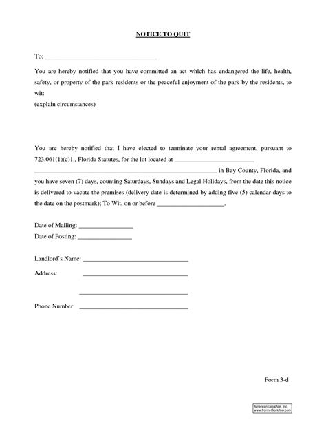 eviction notice florida template 10 best images of 30 day eviction notice template florida eviction notice form free