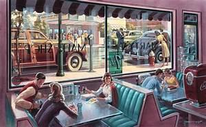 American Diner Wallpaper : 50s diner wallpaper modafinilsale ~ Orissabook.com Haus und Dekorationen