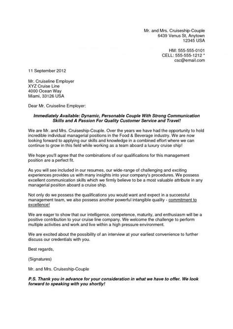 resume cover letter cruise ship cover letter  resume