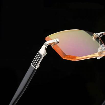 Diamond Rimless Edge Glasses Reading Cutting Oculos