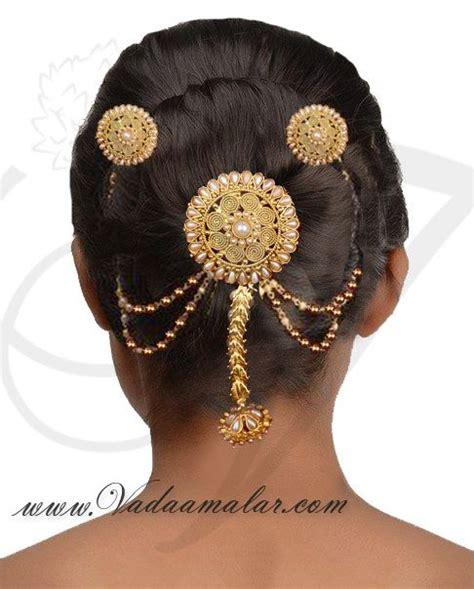 hair decoration bridal hair decoration with pearls pin type choti design