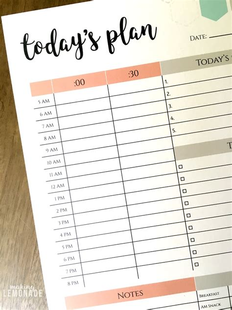 plan daily schedule the one printable i can t function without free daily