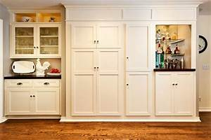White built in kitchen cabinet and pantry traditional for Built in pantry cabinets for kitchen