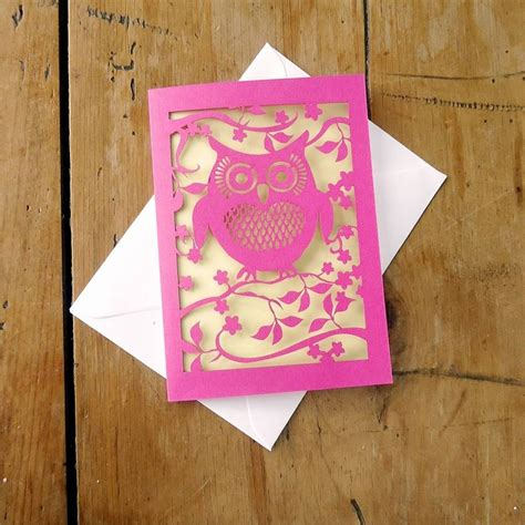 Owl Laser Cut Card  Inspiration For The Silhouette
