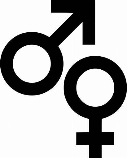 Male Female Icon Symbols Sign Biology Icons