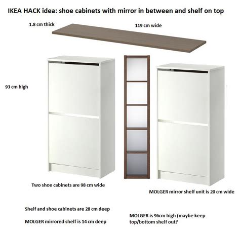 bissa shoe cabinet my own design bissa hallway shoe cabinet combined with