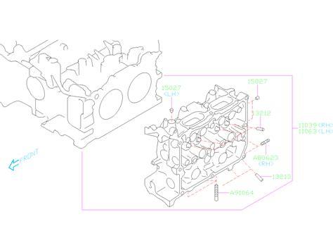 Subaru Outback Stud Body Cylinder Head Engine Cooling
