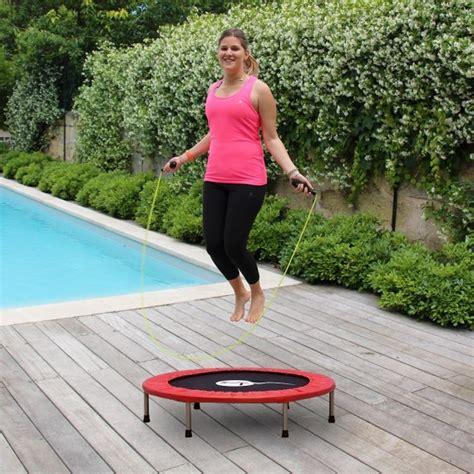 tappeto per saltare mini trolino elastico fitness con corda per saltare