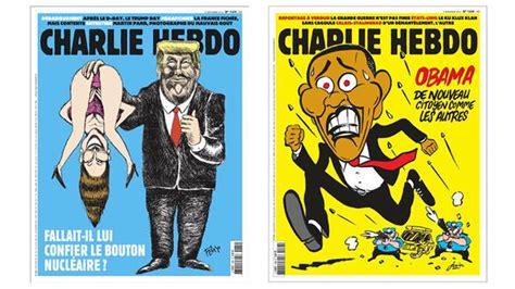 french magazine trump satirical donald hebdo charlie obama