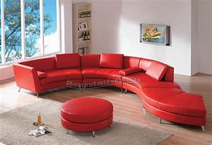 Red contemporary sofa modern line furniture commercial for Custom contemporary sectional sofa