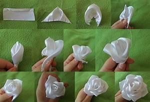 Comment Faire Des Roses En Papier : fleurs en tissu facile ~ Melissatoandfro.com Idées de Décoration