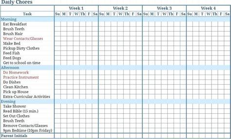 chore chart template sowtemplate