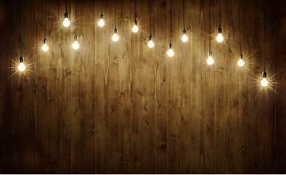 Background Wood Lights Rustic String Hanging Wall