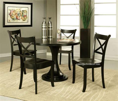 p modern black  dining table  chair set