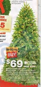 pt denmartha stewart living 7 5 ft pre lit downsweison artificial pine christmas tree w clear