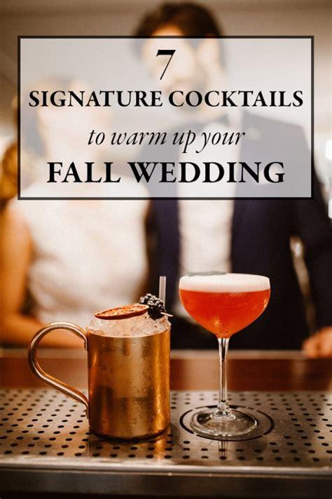 signature cocktails  warm   fall wedding