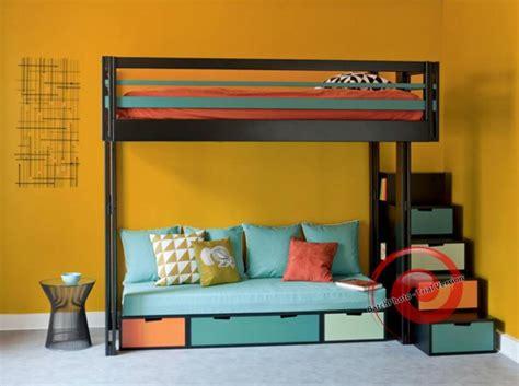 lit mezzanine avec canapé lit mezzanine avec canapé convertible fixé